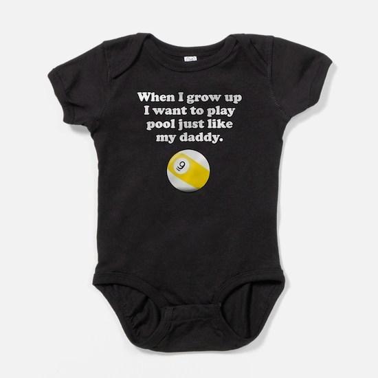Play Pool Like My Daddy Baby Bodysuit