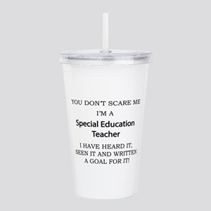 Special Education Teac Acrylic Double-wall Tumbler