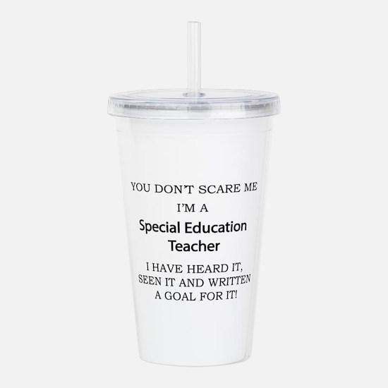 Special Education Teac Acrylic Double-wall Tumbler