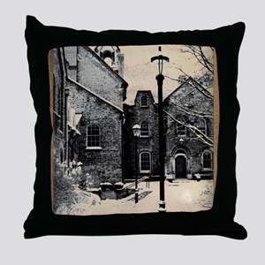 vintage historical montreal building  Throw Pillow