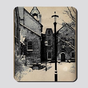 vintage historical montreal building rom Mousepad