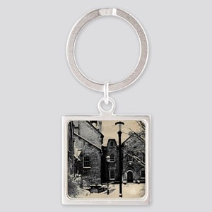 vintage historical montreal buildi Square Keychain