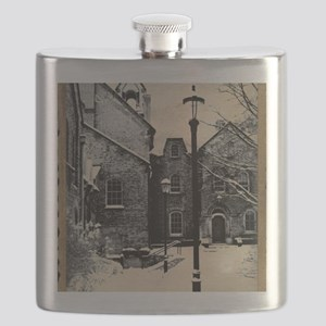 vintage historical montreal building romanti Flask
