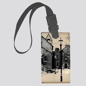 vintage historical montreal buil Large Luggage Tag