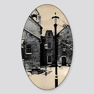vintage historical montreal buildin Sticker (Oval)
