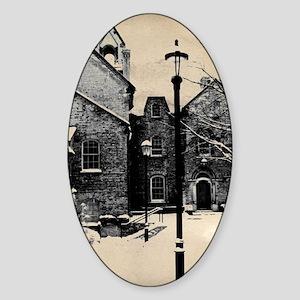 vintage historical montreal buildin Sticker (Oval)