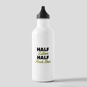 Half Editor Half Rock Star Water Bottle