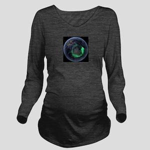 Aurora borealis Long Sleeve Maternity T-Shirt
