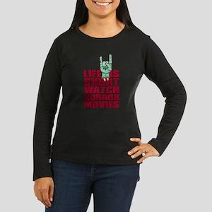 Life is short Women's Long Sleeve Dark T-Shirt