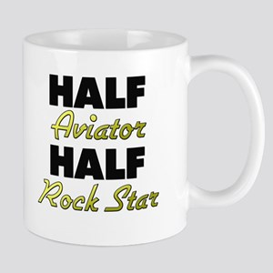 Half Aviator Half Rock Star Mugs
