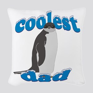 Coolest Dad Woven Throw Pillow