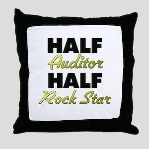 Half Auditor Half Rock Star Throw Pillow