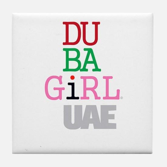 Dubai UAE Dubai Girl Dubayy New York Emirates Tile