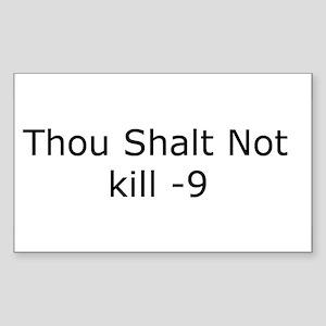 Kill -9 Rectangle Sticker