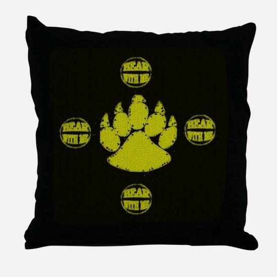 BEAR WITH METhrow Pillow
