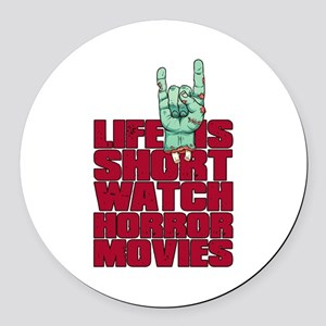 Life is short Round Car Magnet