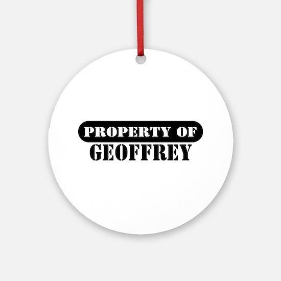 Property of Geoffrey Ornament (Round)