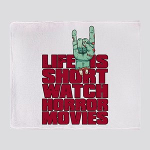 Life is short Throw Blanket