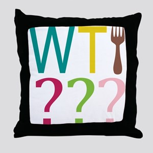 WTFork Throw Pillow