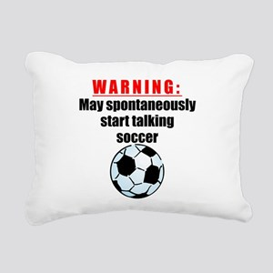 Spontaneous Soccer Talk Rectangular Canvas Pillow
