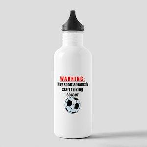 Spontaneous Soccer Talk Sports Water Bottle