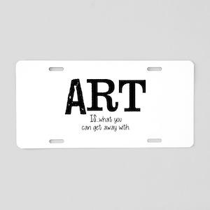 ART is... Aluminum License Plate