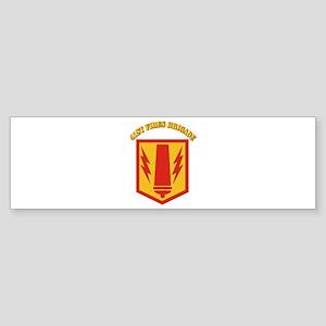 SSI - 41st Fires Brigade with Text Sticker (Bumper