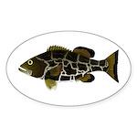 Black Grouper Sticker