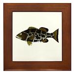 Black Grouper Framed Tile