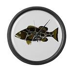 Black Grouper Large Wall Clock