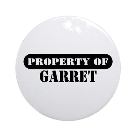 Property of Garret Ornament (Round)