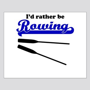 Id Rather Be Rowing Poster Design