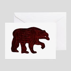 BROWN BEAR WALKING Greeting Cards (Pk of 10)