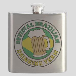 Official Brazilian Drinking Team Flask