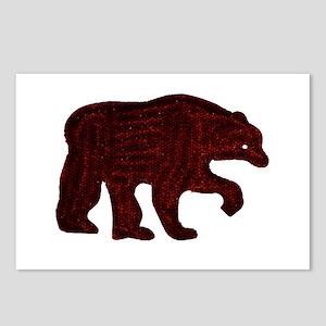 BROWN BEAR WALKING Postcards (Package of 8)