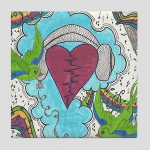 Music Pulse Tile Coaster