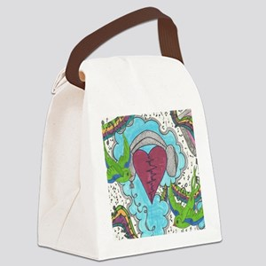 Music Pulse Canvas Lunch Bag