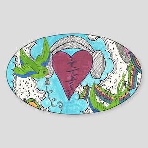 Music Pulse Sticker (Oval)