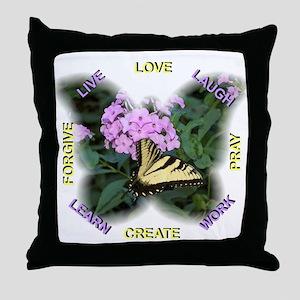 Inspiring Words to Remember Throw Pillow