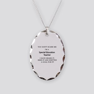 Special Education Teacher Necklace Oval Charm