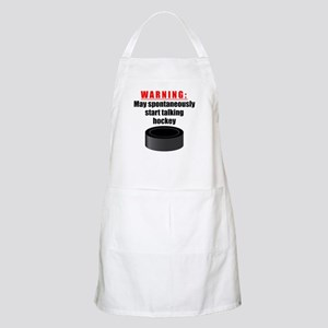 Spontaneous Hockey Talk Apron