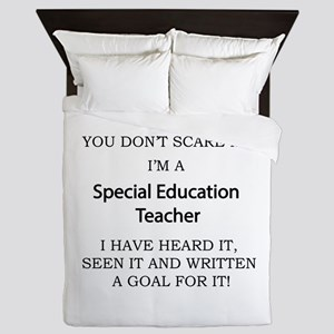 Special Education Teacher Queen Duvet