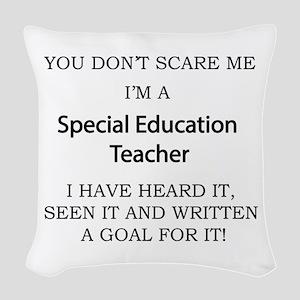 Special Education Teacher Woven Throw Pillow