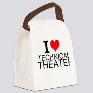 I Love Technical Theater Canvas Lunch Bag