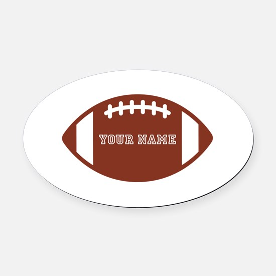 Custom name Football Oval Car Magnet
