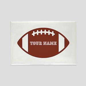 Custom name Football Rectangle Magnet