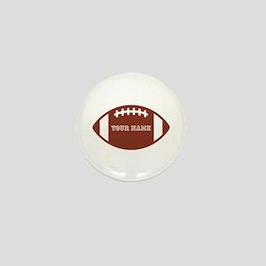 Custom name Football Mini Button