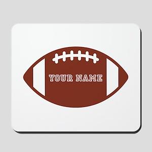 Custom name Football Mousepad