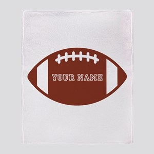Custom name Football Throw Blanket