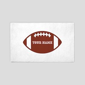Custom name Football 3'x5' Area Rug